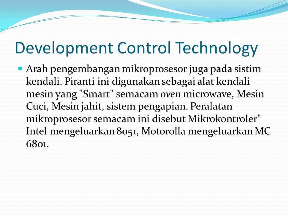 Development Control Technology