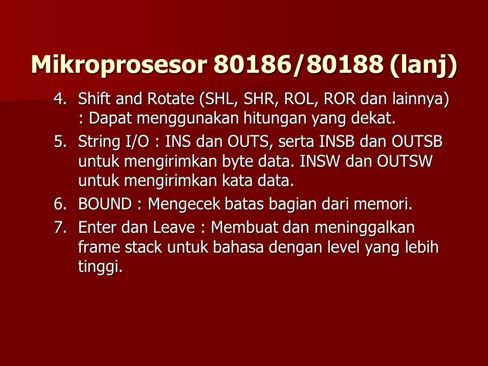 Mikroprosesor 80186/80188 (lanj)