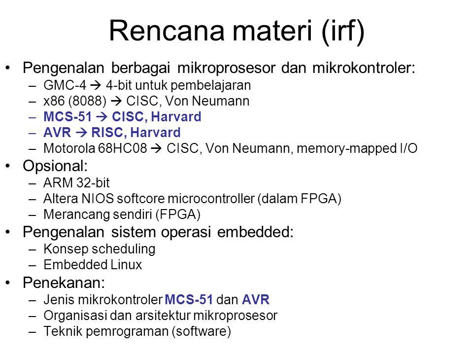 Rencana materi (irf) Pengenalan berbagai mikroprosesor dan mikrokontroler: GMC-4  4-bit untuk pembelajaran.