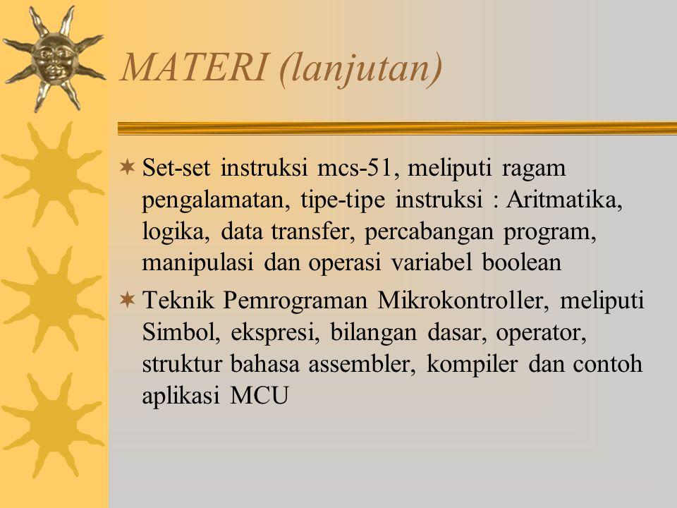 MATERI (lanjutan)