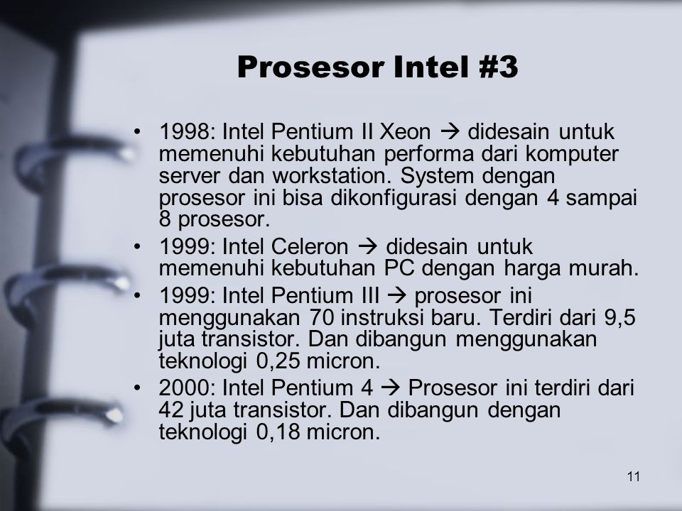 Prosesor Intel #3