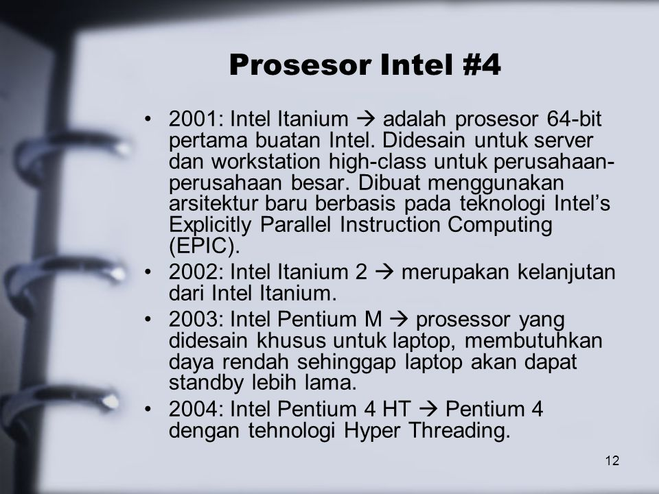 Prosesor Intel #4