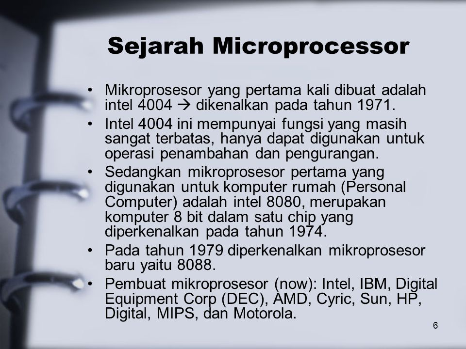 Sejarah Microprocessor