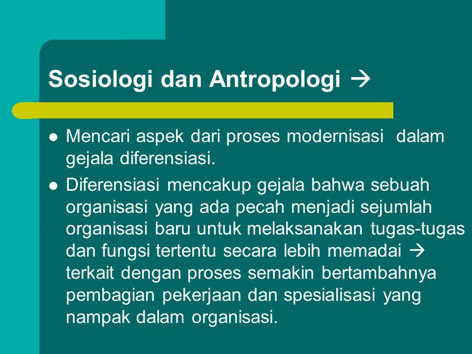 Sosiologi dan Antropologi 