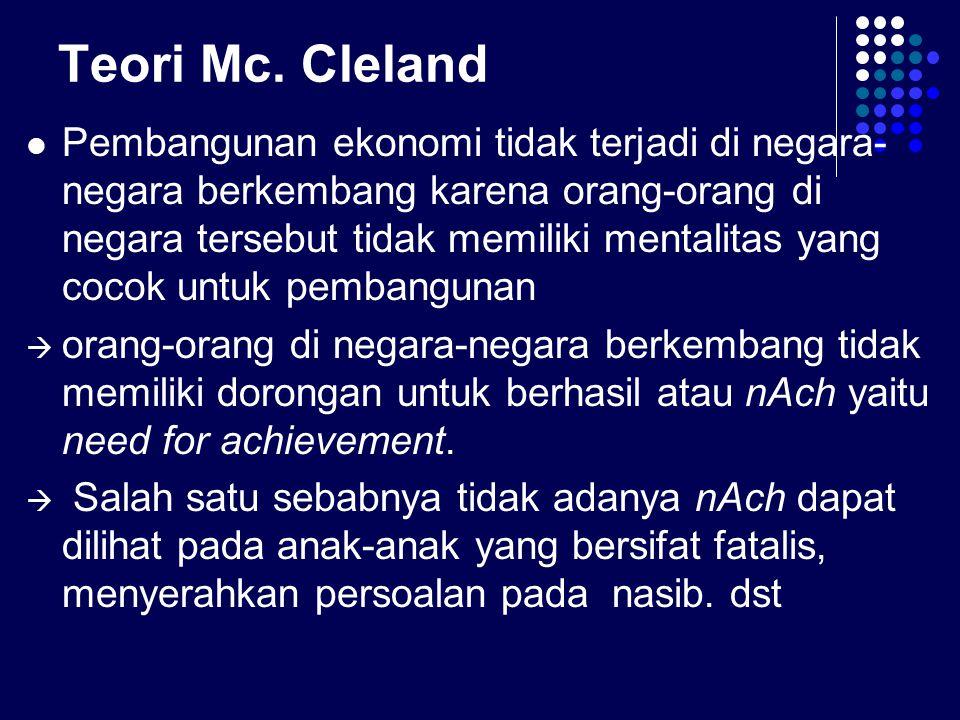 Teori Mc. Cleland