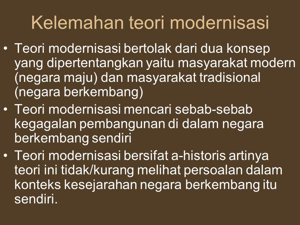 Kelemahan teori modernisasi