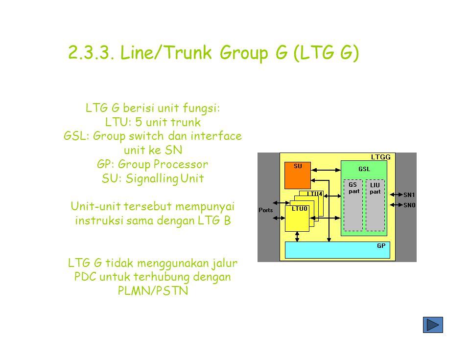 2.3.3. Line/Trunk Group G (LTG G)