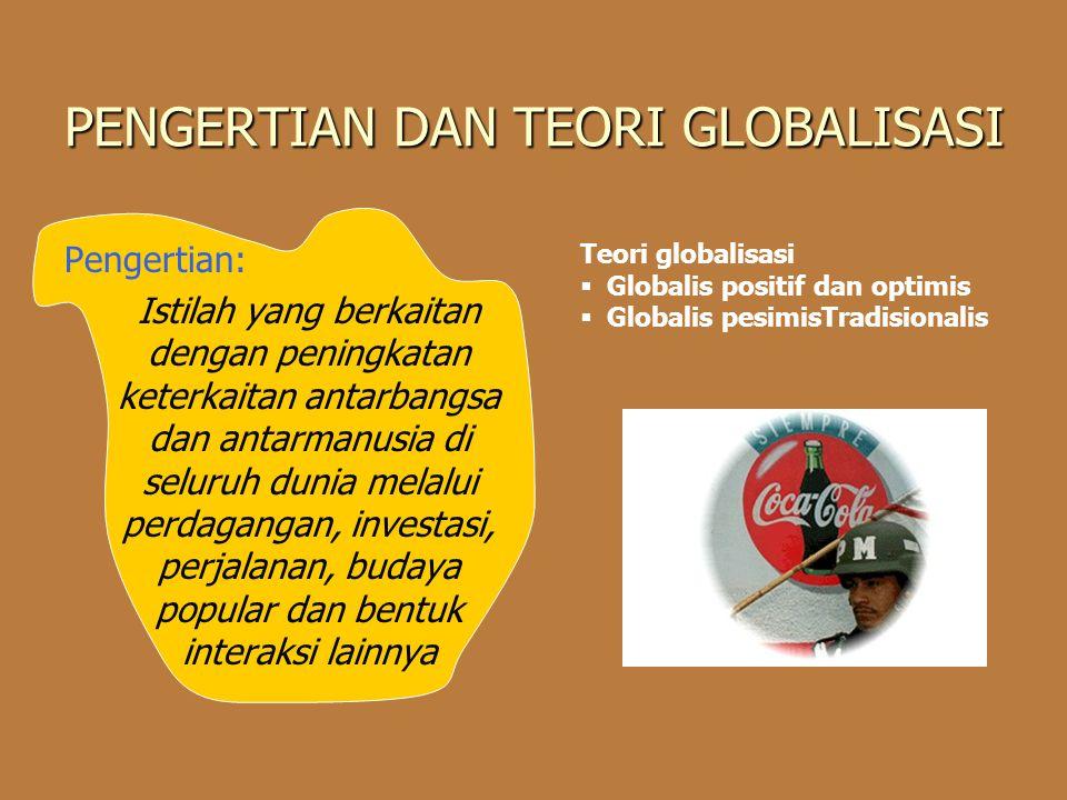 PENGERTIAN DAN TEORI GLOBALISASI