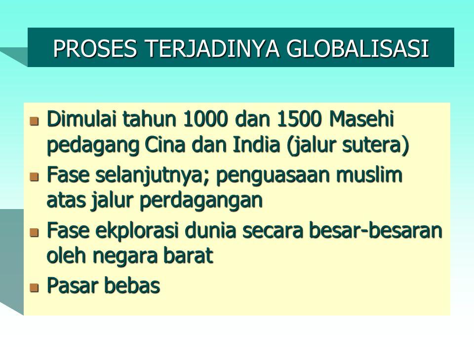 PROSES TERJADINYA GLOBALISASI