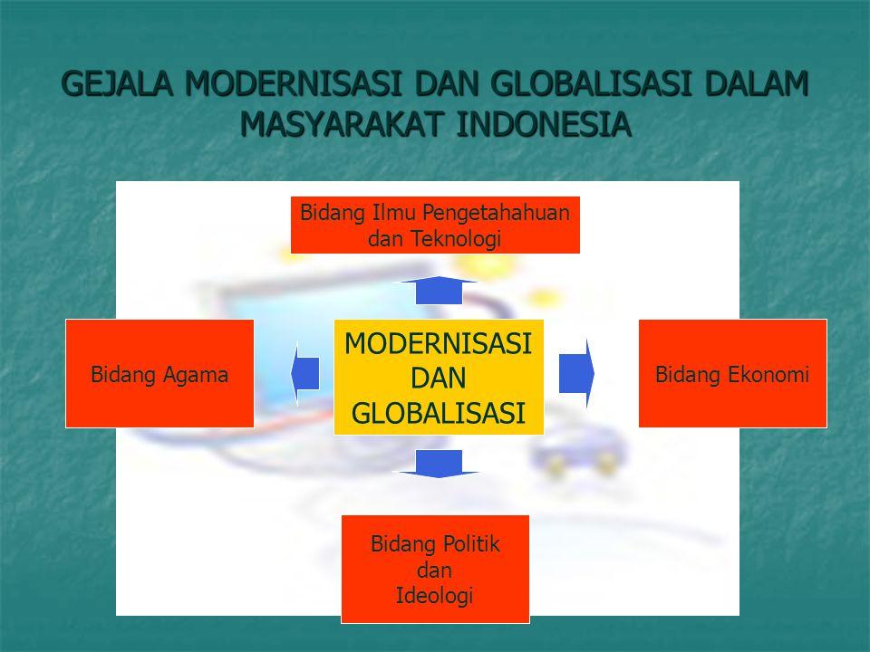 GEJALA MODERNISASI DAN GLOBALISASI DALAM MASYARAKAT INDONESIA
