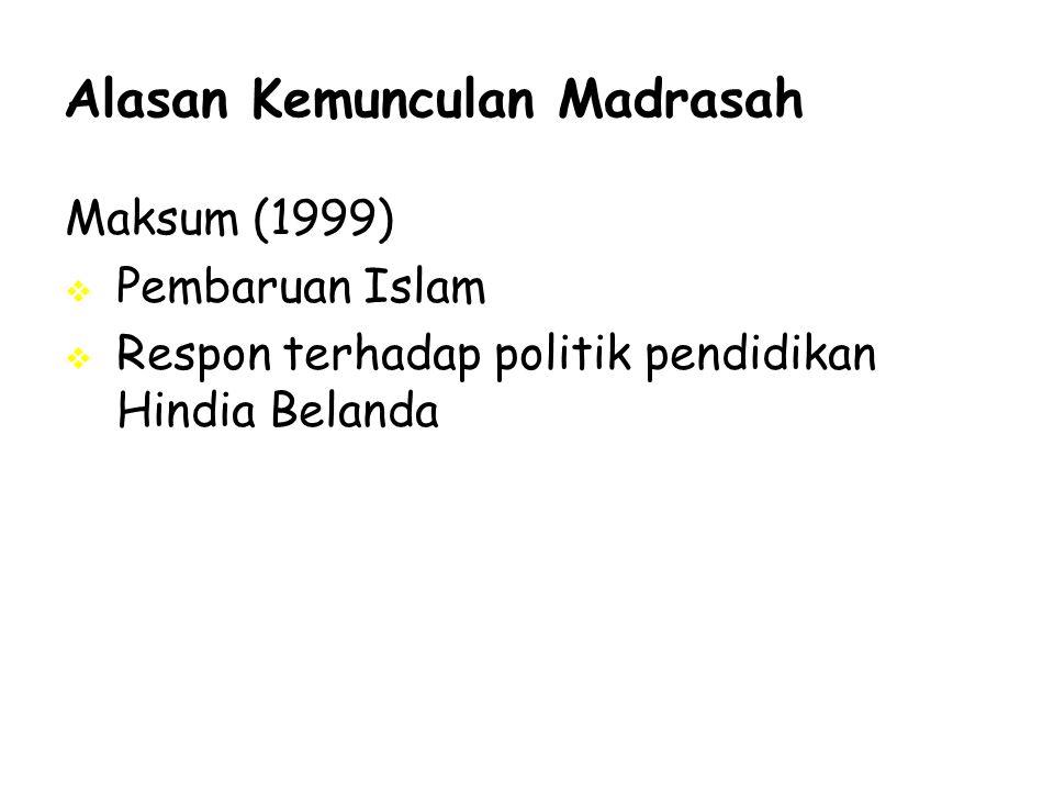 Alasan Kemunculan Madrasah
