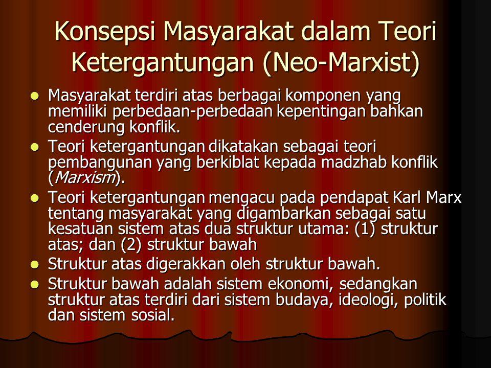 Konsepsi Masyarakat dalam Teori Ketergantungan (Neo-Marxist)
