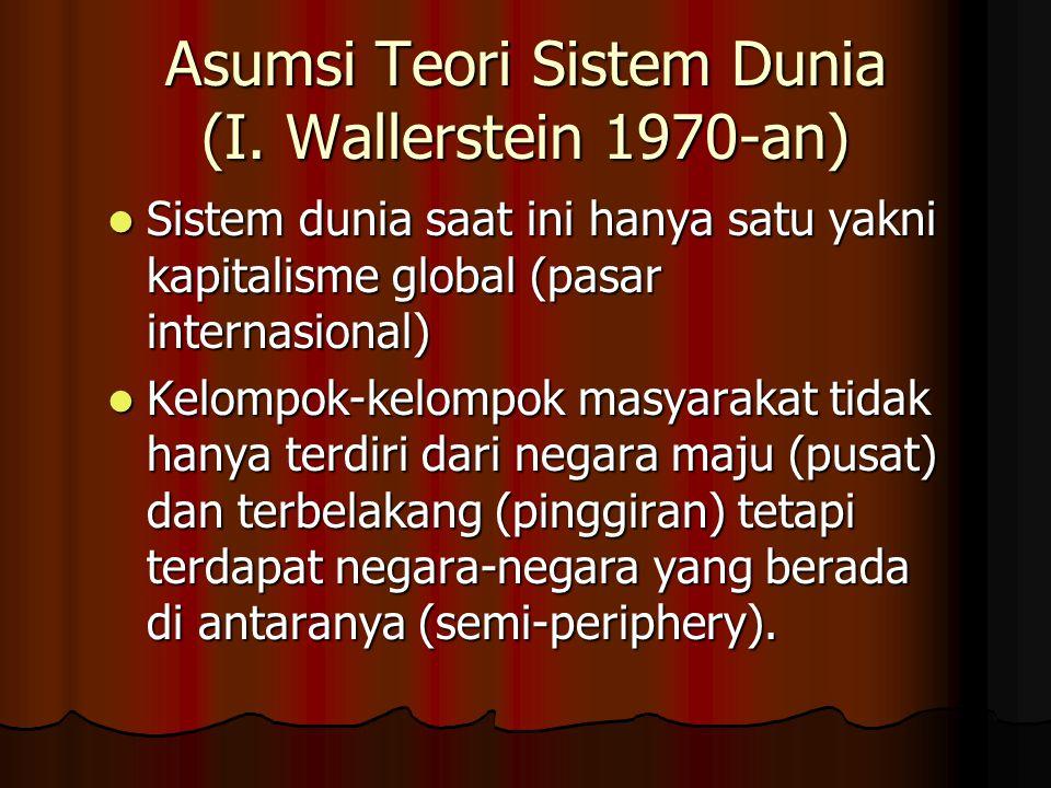 Asumsi Teori Sistem Dunia (I. Wallerstein 1970-an)