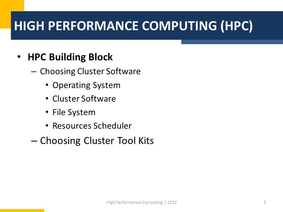 HIGH PERFORMANCE COMPUTING (HPC)