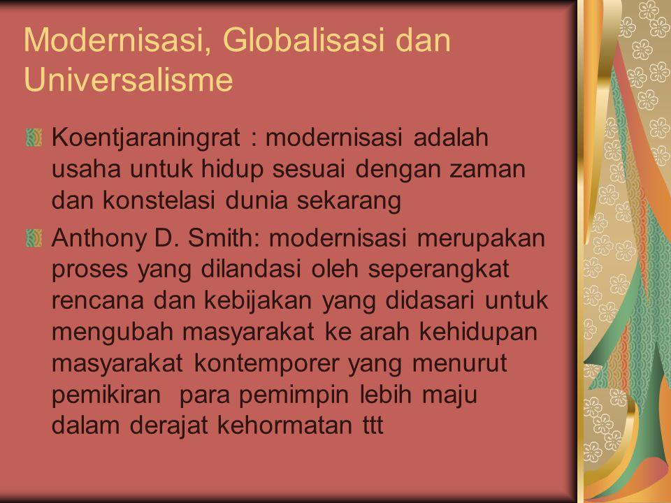 Modernisasi, Globalisasi dan Universalisme
