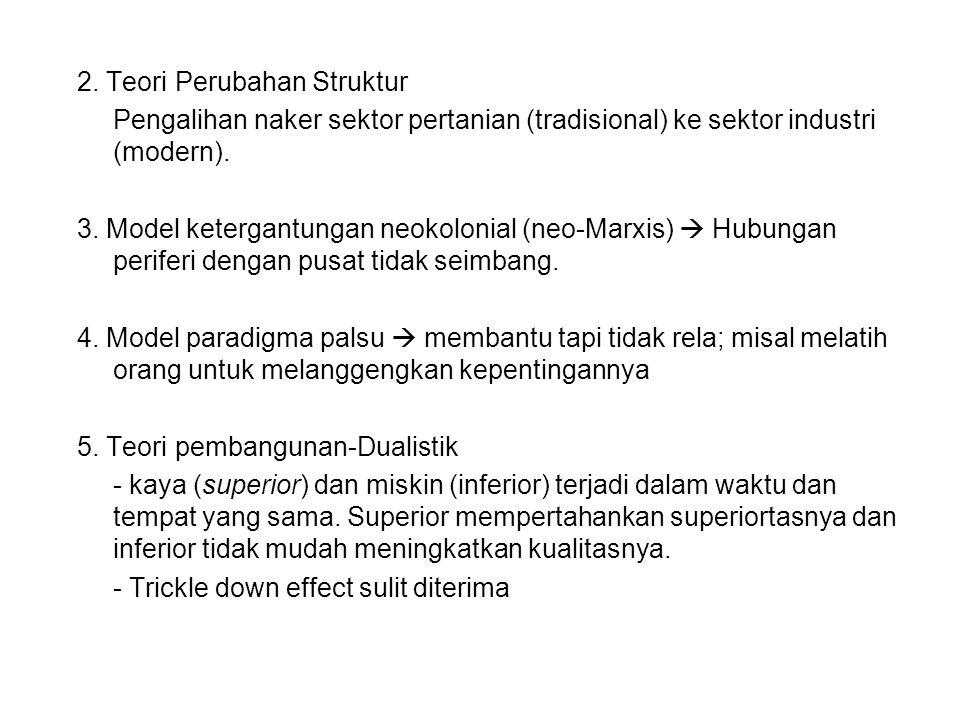 2. Teori Perubahan Struktur