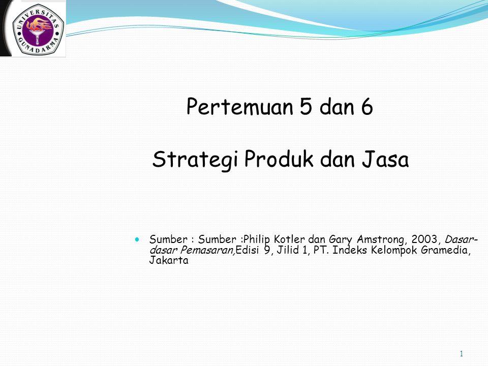 Pertemuan 5 dan 6 Strategi Produk dan Jasa