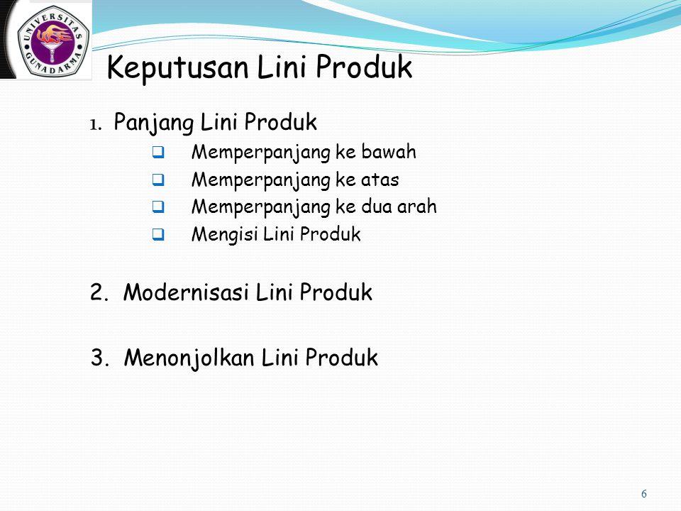 Keputusan Lini Produk 1. Panjang Lini Produk