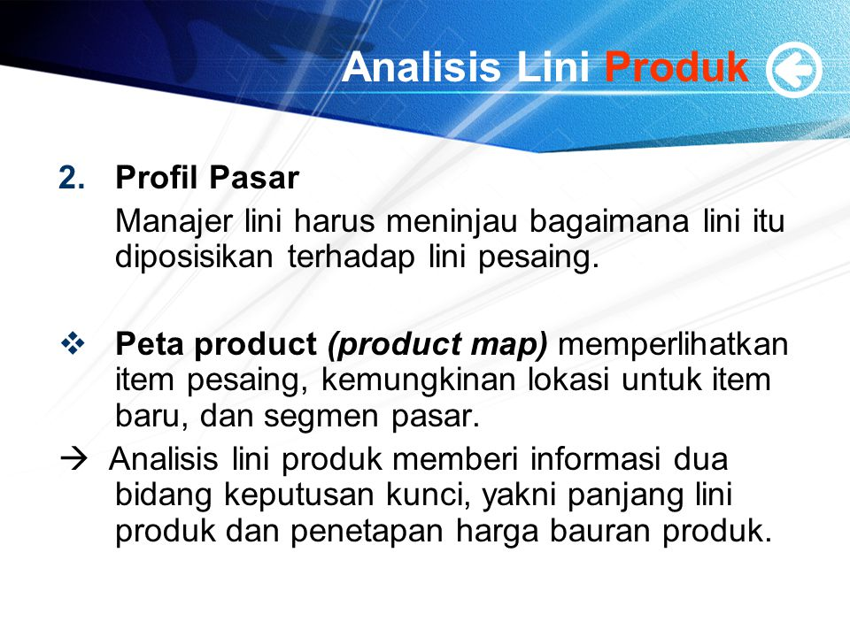 Analisis Lini Produk Profil Pasar