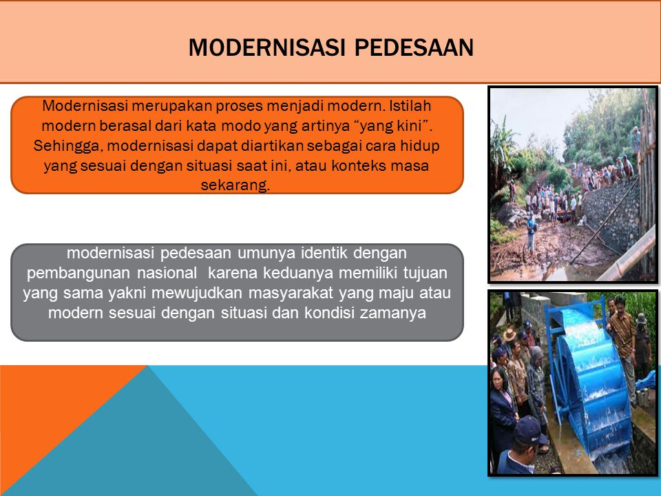 Modernisasi Pedesaan