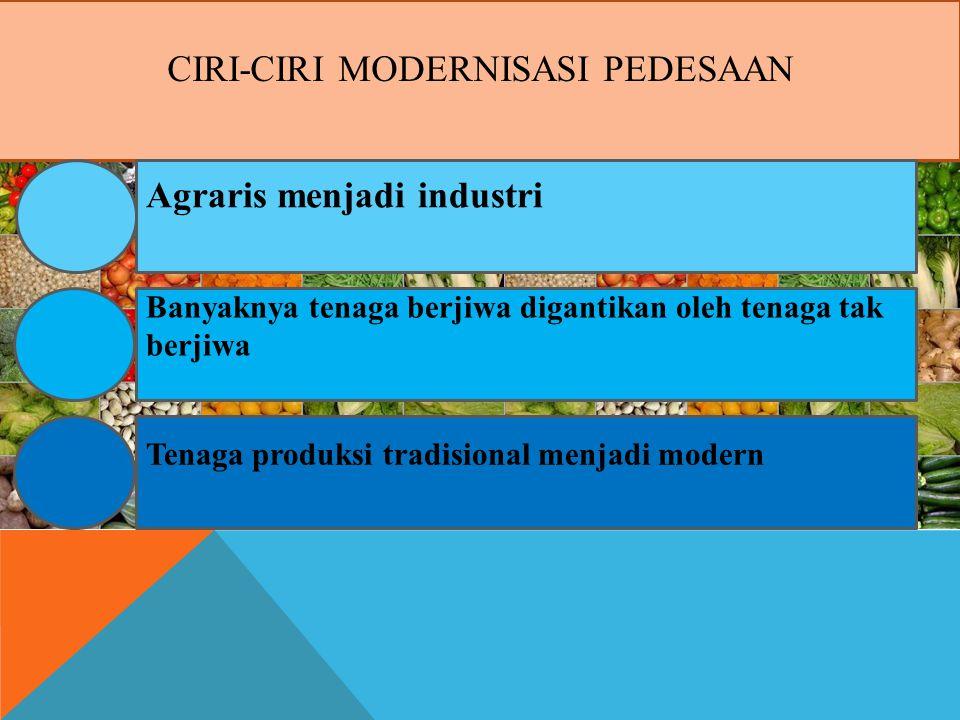 Ciri-Ciri Modernisasi pedesaan