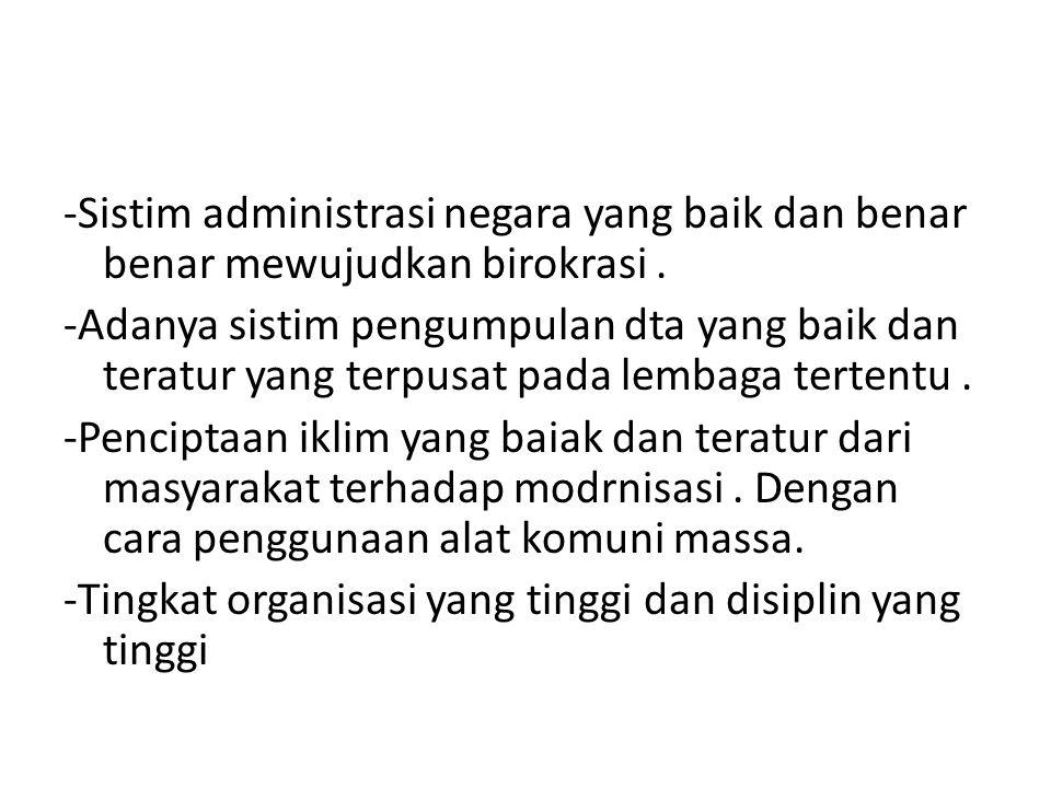 -Sistim administrasi negara yang baik dan benar benar mewujudkan birokrasi .