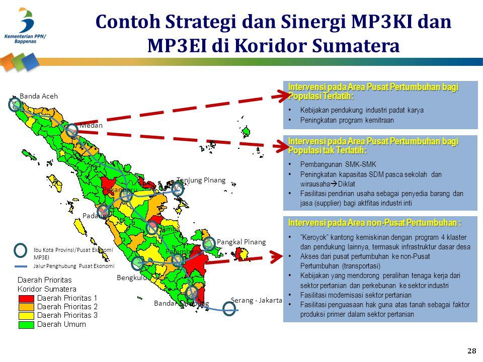 Contoh Strategi dan Sinergi MP3KI dan MP3EI di Koridor Sumatera