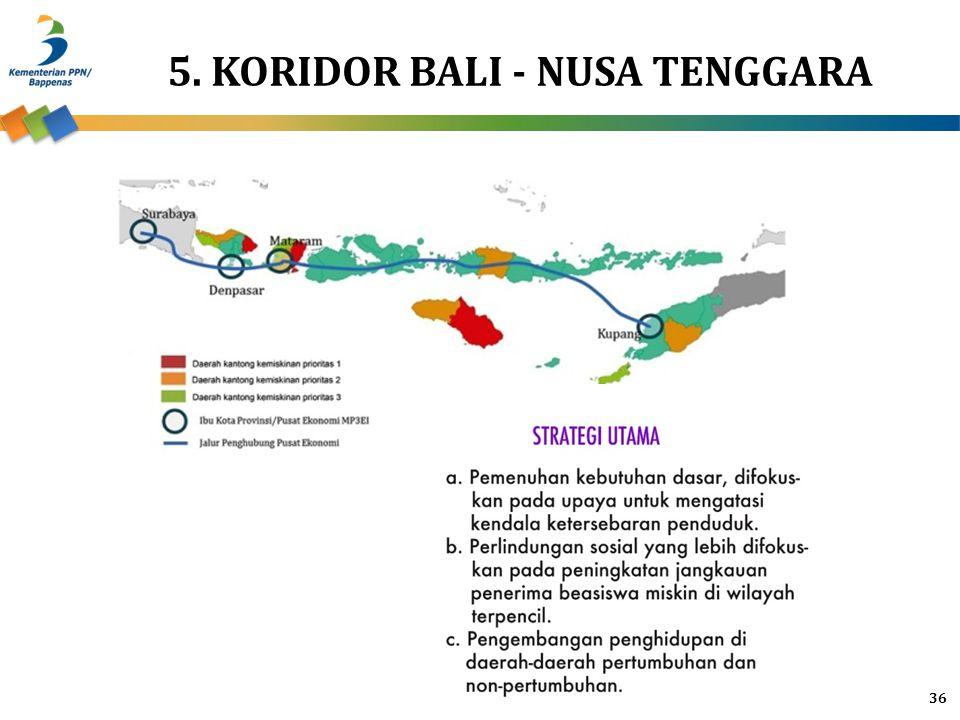 5. KORIDOR BALI - NUSA TENGGARA
