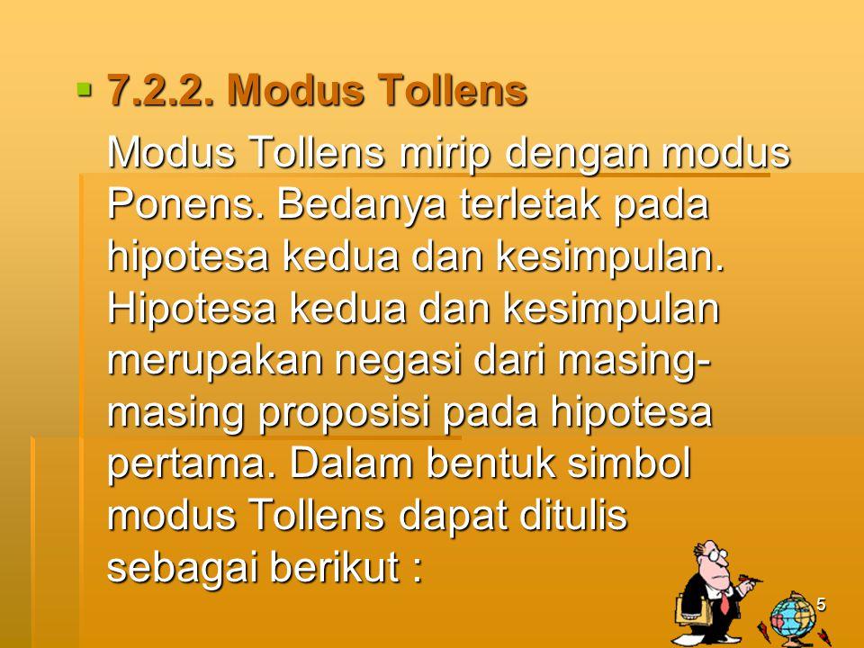 7.2.2. Modus Tollens