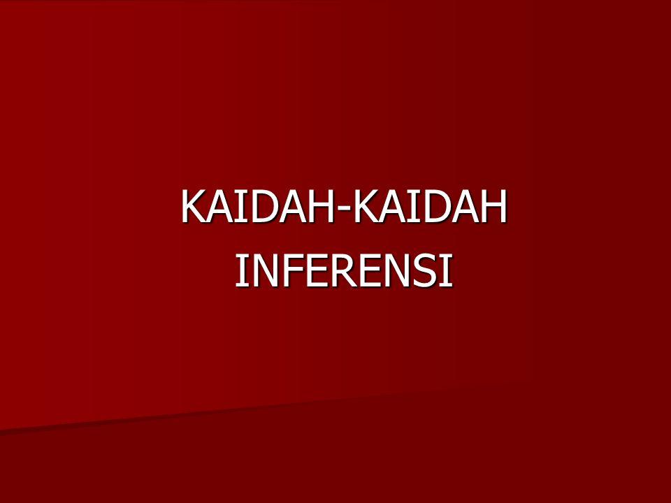 KAIDAH-KAIDAH INFERENSI