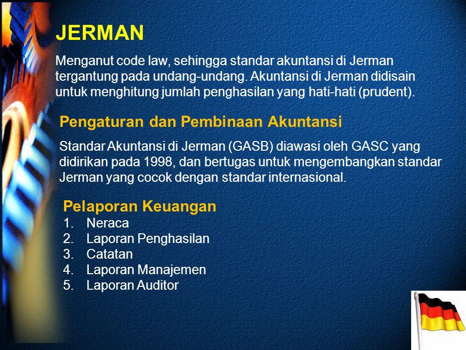 JERMAN Pengaturan dan Pembinaan Akuntansi Pelaporan Keuangan
