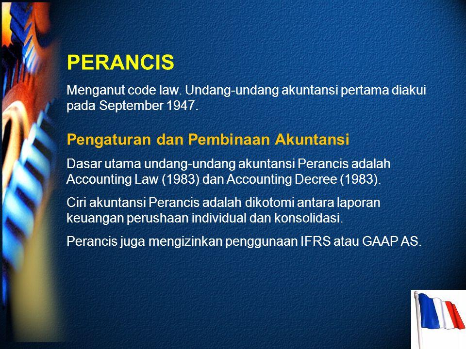 PERANCIS Pengaturan dan Pembinaan Akuntansi