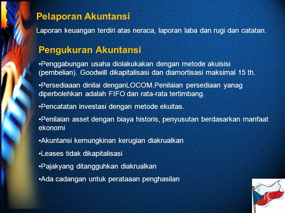 Pelaporan Akuntansi Pengukuran Akuntansi