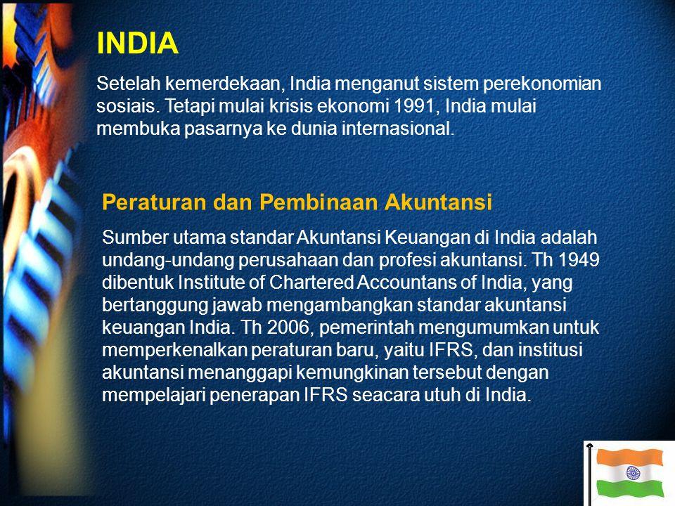 INDIA Peraturan dan Pembinaan Akuntansi