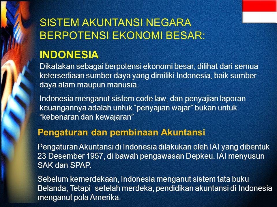 SISTEM AKUNTANSI NEGARA BERPOTENSI EKONOMI BESAR: INDONESIA