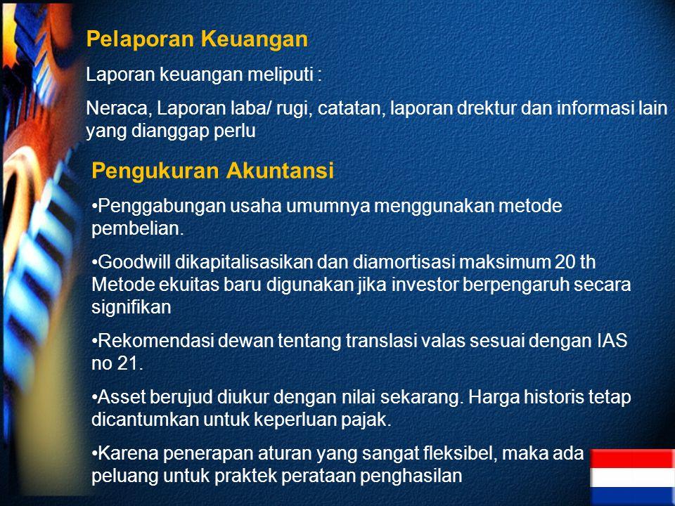 Pelaporan Keuangan Pengukuran Akuntansi Laporan keuangan meliputi :