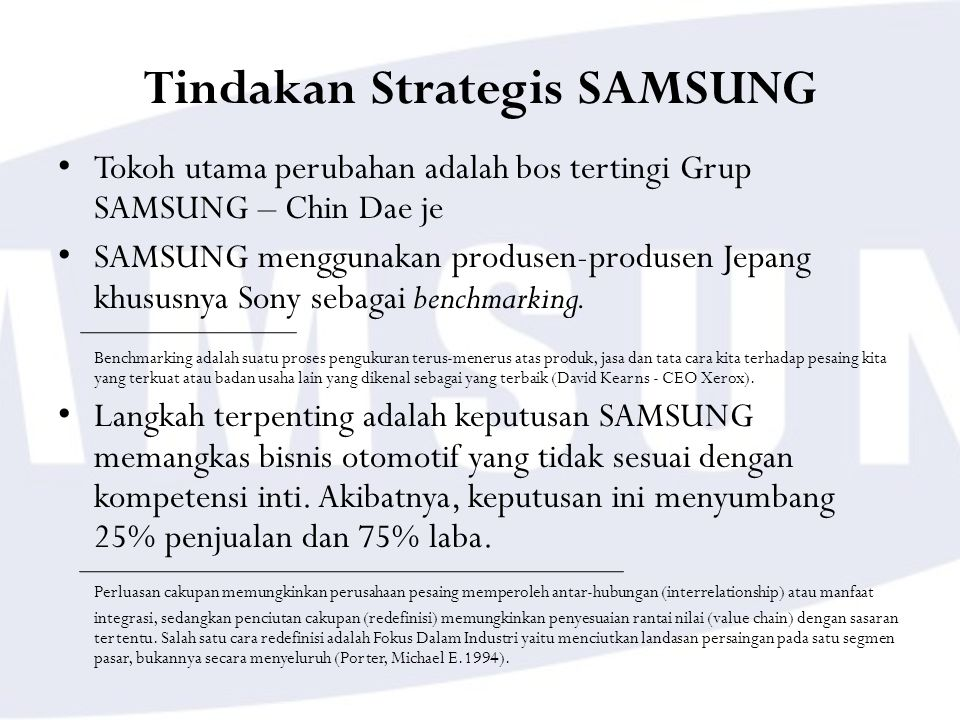 Tindakan Strategis SAMSUNG