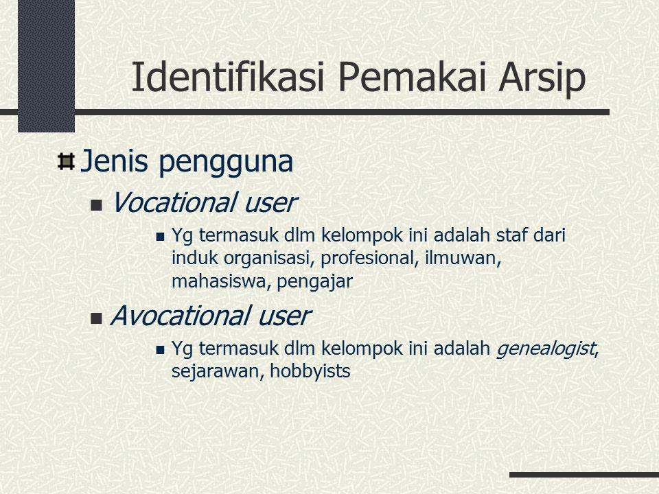 Identifikasi Pemakai Arsip