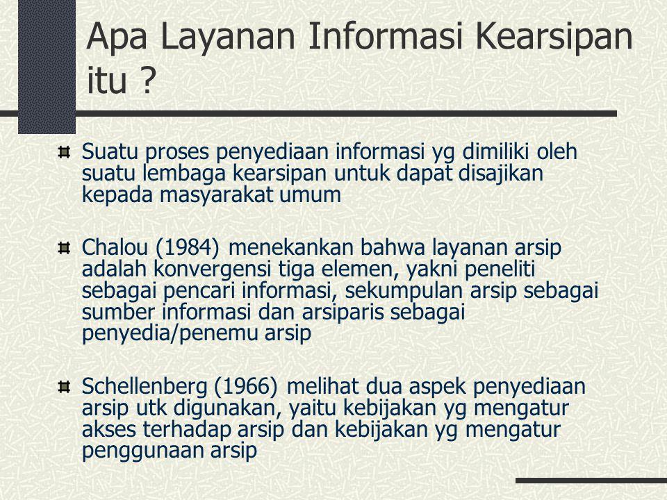 Apa Layanan Informasi Kearsipan itu
