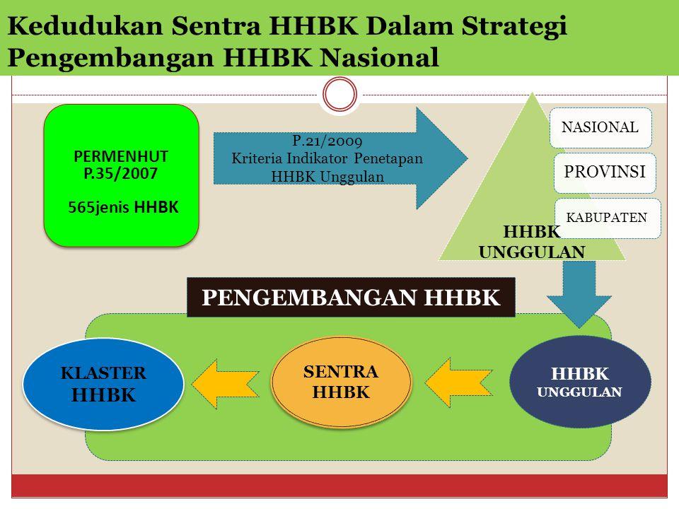 Kedudukan Sentra HHBK Dalam Strategi Pengembangan HHBK Nasional