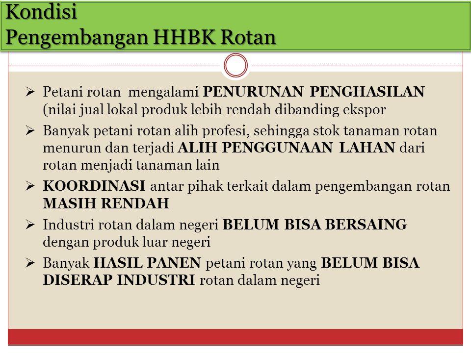 Kondisi Pengembangan HHBK Rotan