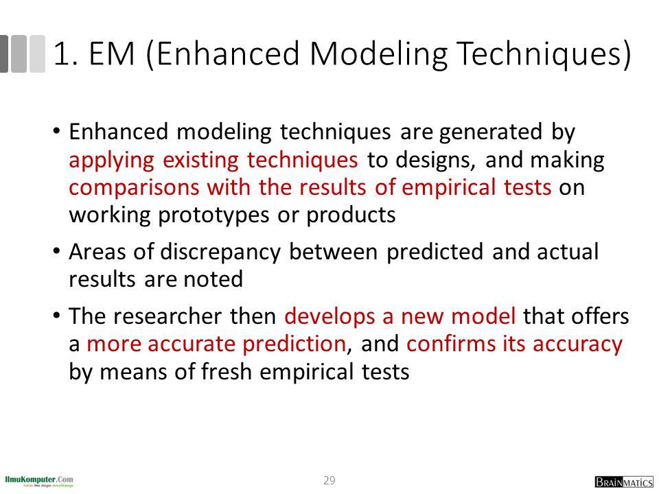 1. EM (Enhanced Modeling Techniques)