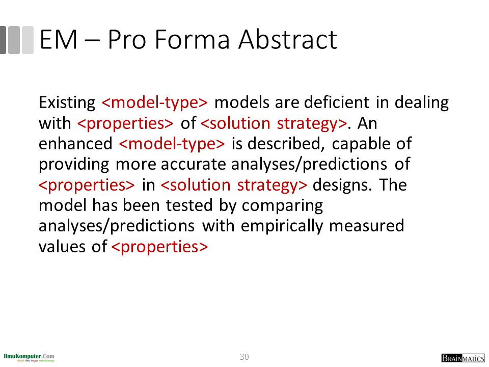EM – Pro Forma Abstract