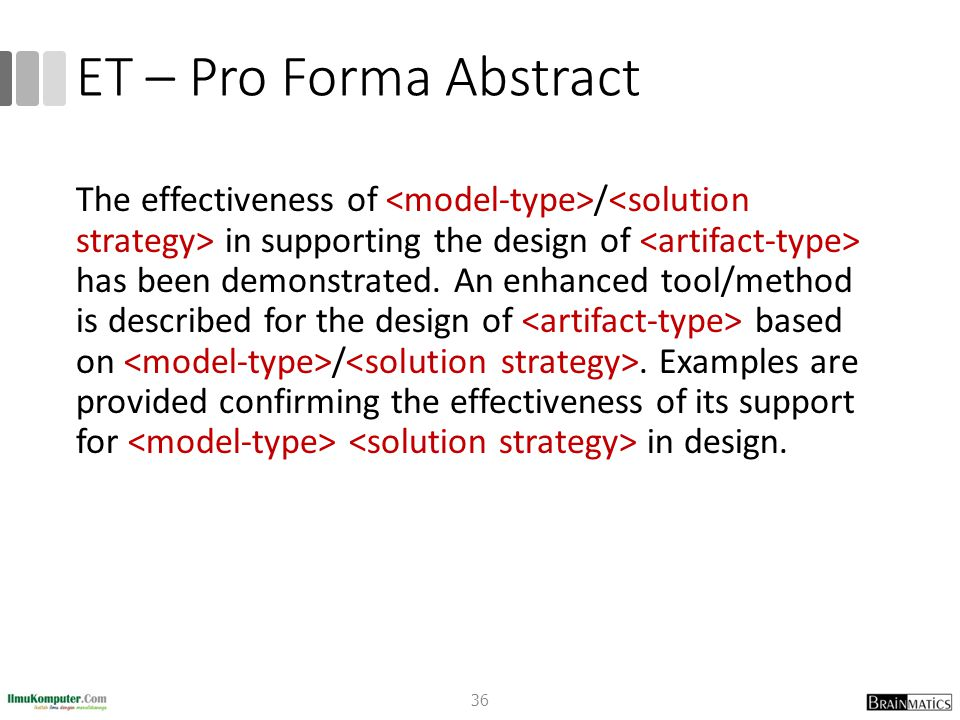 ET – Pro Forma Abstract