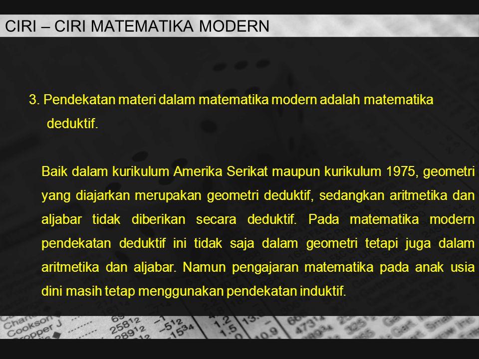 CIRI – CIRI MATEMATIKA MODERN