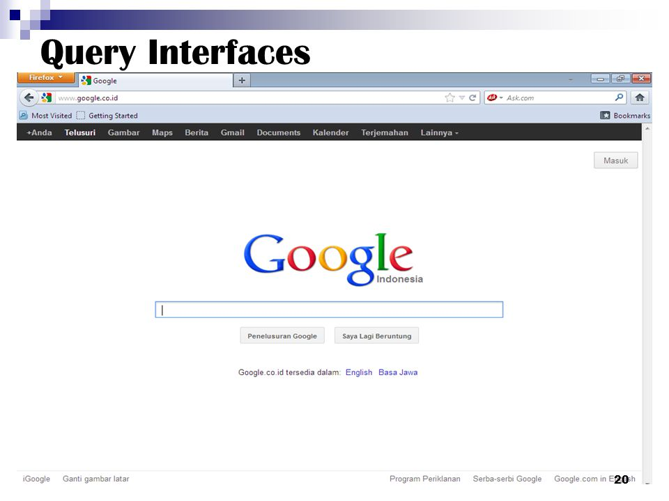Query Interfaces