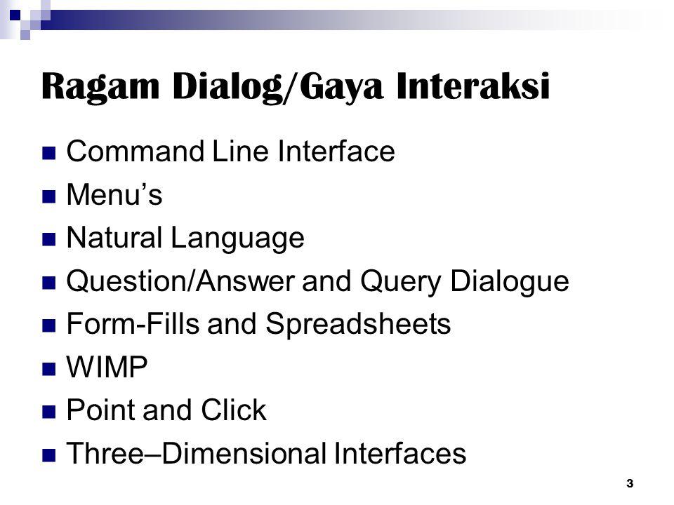 Ragam Dialog/Gaya Interaksi