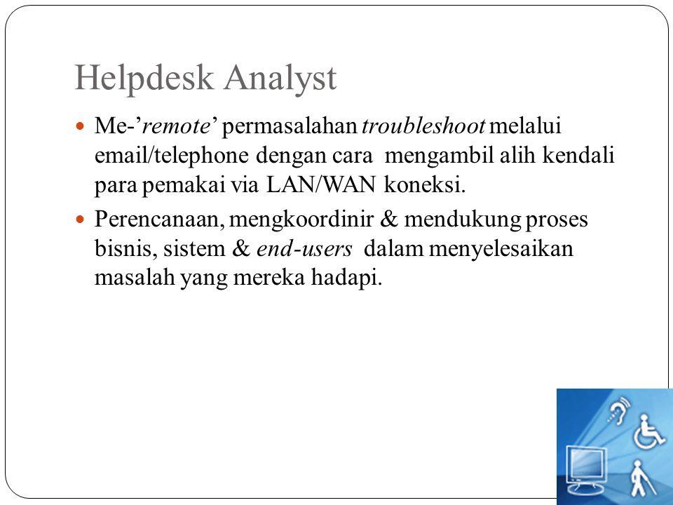 Helpdesk Analyst