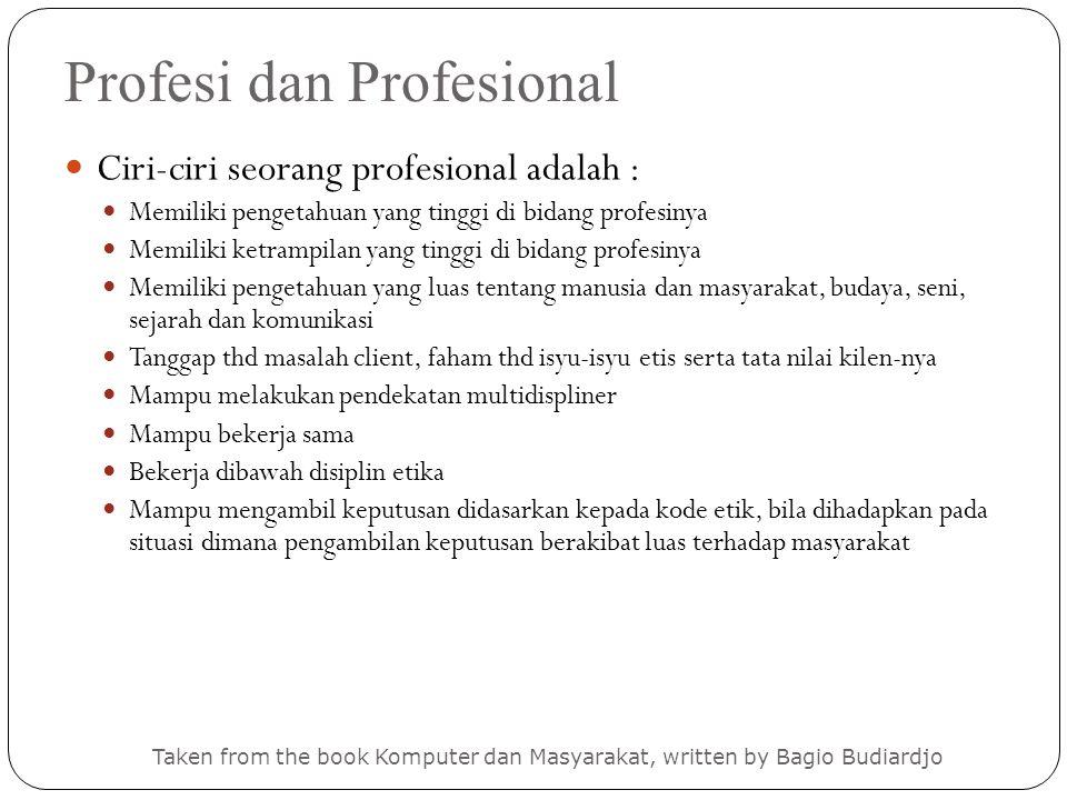 Profesi dan Profesional