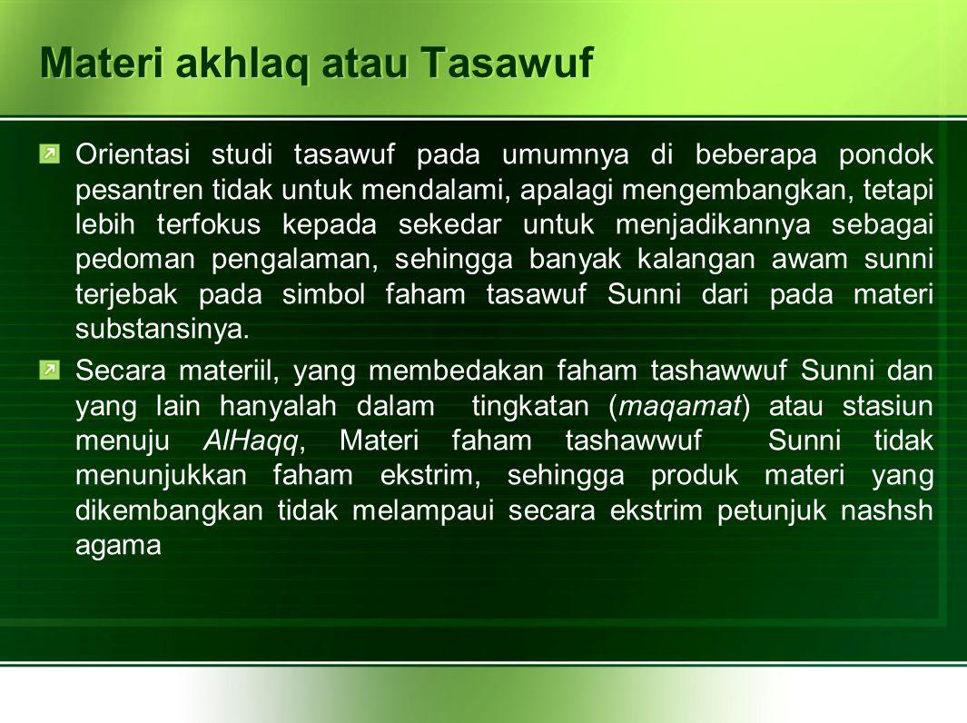 Materi akhlaq atau Tasawuf